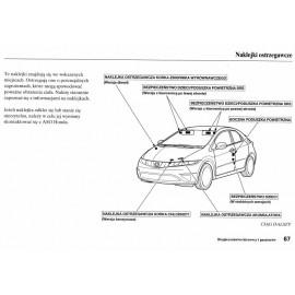 Honda Civic 5d 2006-2010 +Radio Instrukcja Obsługi
