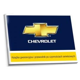 Chevrolet Polska Czysta Książka Serwisowa