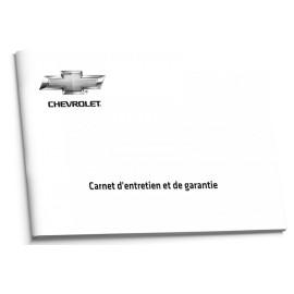 Chevrolet Francuska Czysta Książka Serwisowa