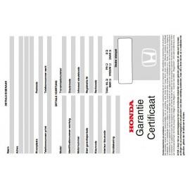 Honda Czysta Belgijska Książka Serwisowa