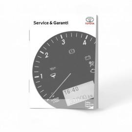 Toyota Czysta Duńska Dania Książka Serwisowa od 2010