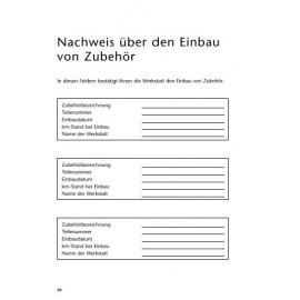 Toyota Czysta Niemiecka Książka Serwisowa do 2009