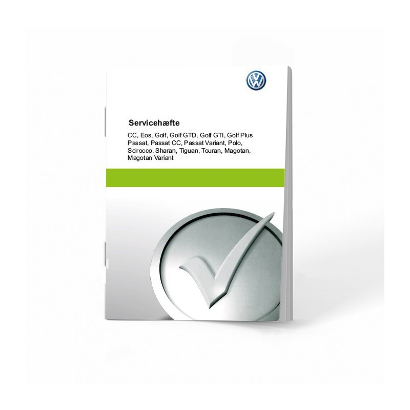 VW Volkswagen Duńska Książka Serwisowa 16 Modeli