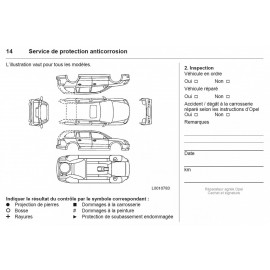 Opel Czysta Francuska Książka Serwisowa 2013-17