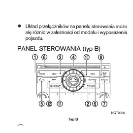 Nissan Navara Murano X-Trail Nawigacja Instrukcja
