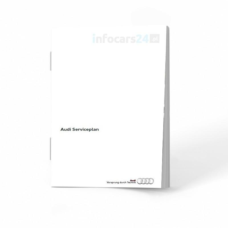 Audi Holenderska Książka Serwisowa 2010-2018